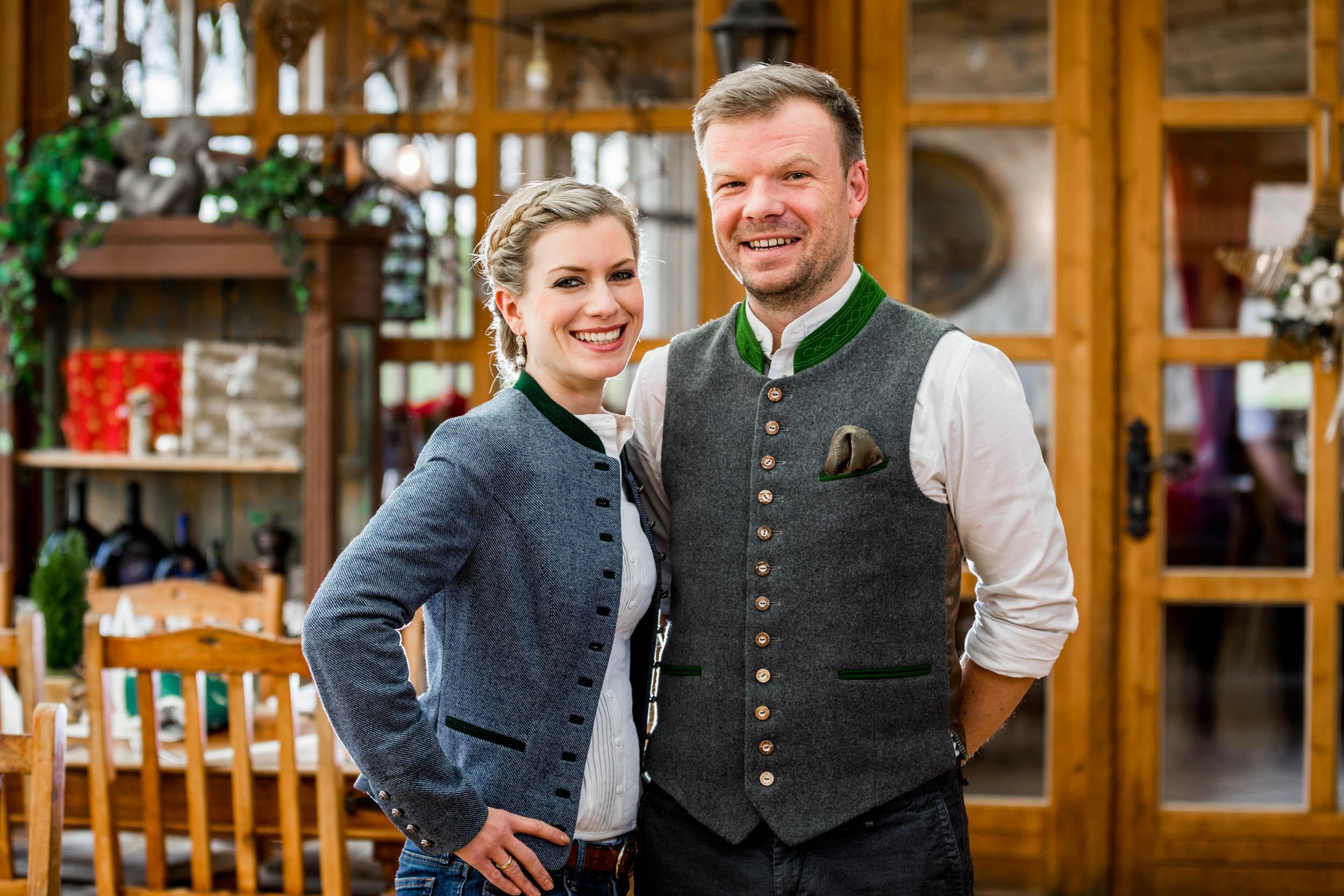 Inhaber und Geschäftsführer vom Landgut Kugler Alm Ebersberg sind Barbara und Korbinian Kugler