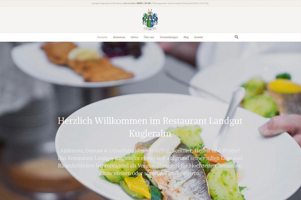 Die neue Webseite der Kugleralm Ebersberg im Osten von München