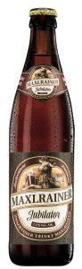 Flasche vom Jubilator Doppelbock Starkbier der Brauerei Maxlrain