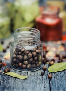 Piment, das Viergewürz, erinnert geschmacklich an die Gewürzmischung Quatre- épices